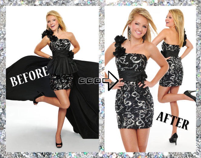BB44298 features a detachable outer skirt so you can quickly switch from formal to fun!